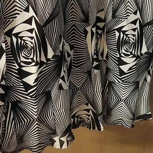 Lapis Skirts - Black and white skirt